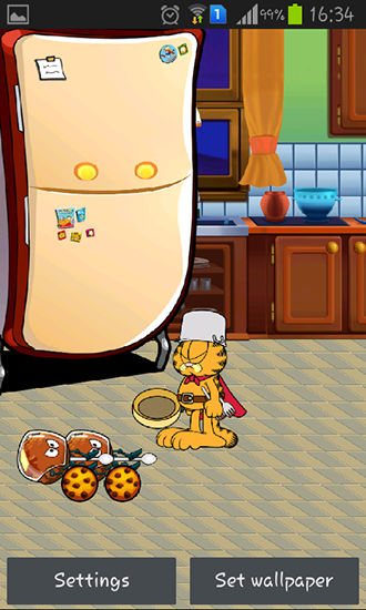 Screenshots of the Garfield's defense for Android tablet, phone.