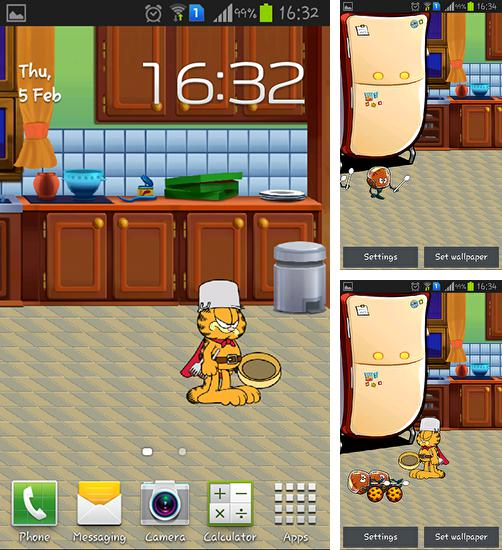 In addition to live wallpaper Glass for Android phones and tablets, you can also download Garfield's defense for free.