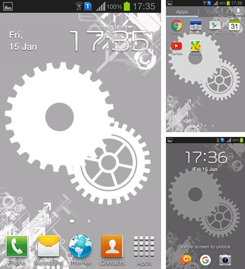 In addition to live wallpaper Yang the cat for Android phones and tablets, you can also download Gears for free.
