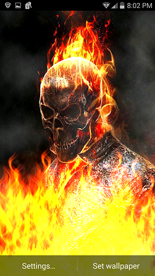 Android用ghost Rider Fire Flamesを無料でダウンロード