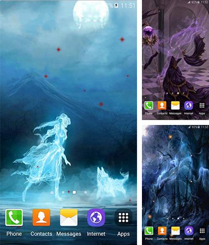 Ghosts live wallpaper for Android  Ghosts free download for tablet