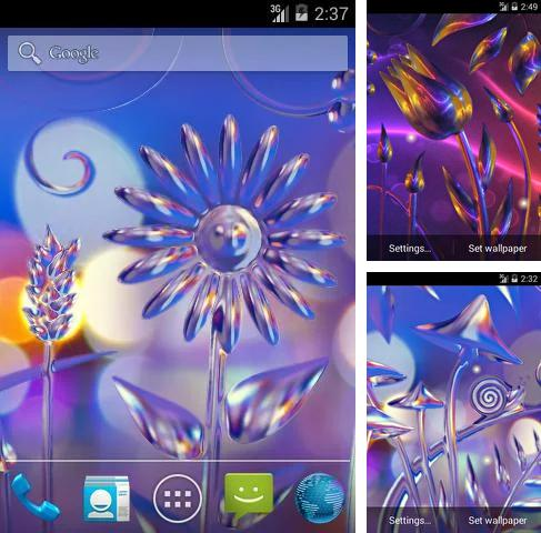 Download live wallpaper Glass flowers for Android. Get full version of Android apk livewallpaper Glass flowers for tablet and phone.
