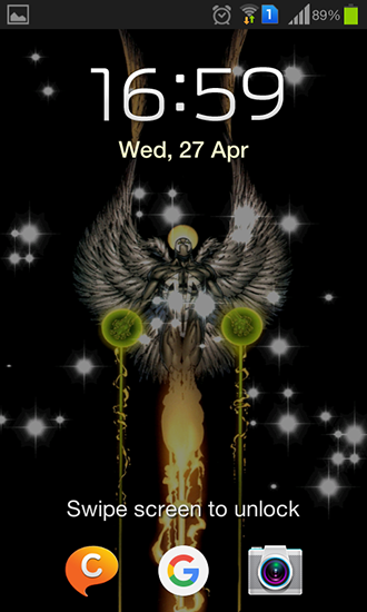 Screenshots of the Glitter angel for Android tablet, phone.