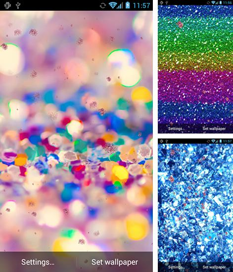 In addition to live wallpaper Water bubble for Android phones and tablets, you can also download Glitter by HD Live wallpapers free for free.
