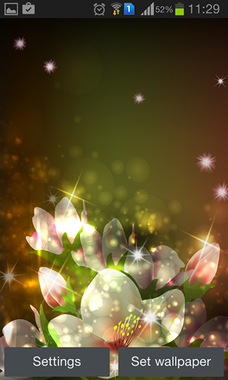 Capturas de pantalla de Glowing flowers by Creative factory wallpapers para tabletas y teléfonos Android.