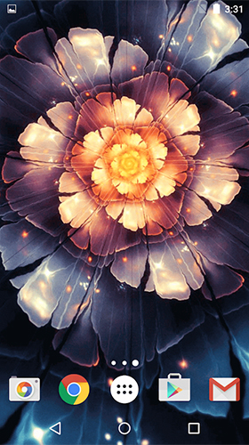 Screenshots of the Glowing flowers by Free Wallpapers and Backgrounds for Android tablet, phone.