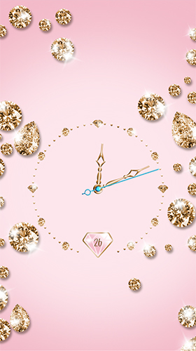 Gold and diamond clock