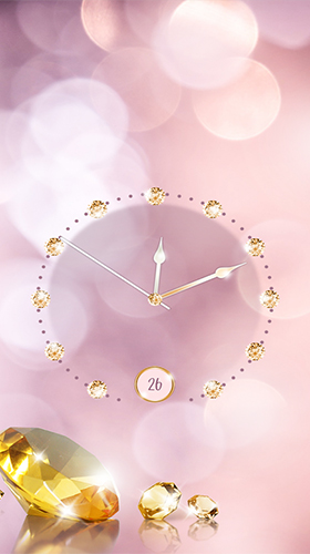 Screenshots of the Gold and diamond clock for Android tablet, phone.