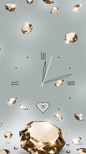 Screenshots von Gold and diamond clock für Android-Tablet, Smartphone.