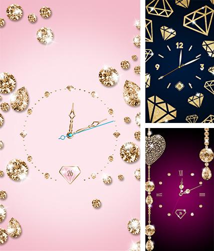 Download live wallpaper Gold and diamond clock for Android. Get full version of Android apk livewallpaper Gold and diamond clock for tablet and phone.
