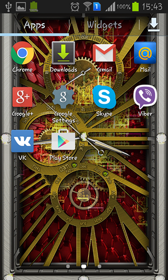 Download Gold clock - livewallpaper for Android. Gold clock apk - free download.