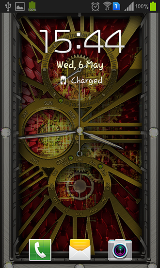 Screenshots of the Gold clock for Android tablet, phone.