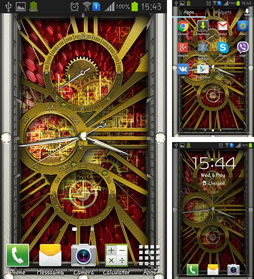 In addition to live wallpaper My beach HD for Android phones and tablets, you can also download Gold clock for free.