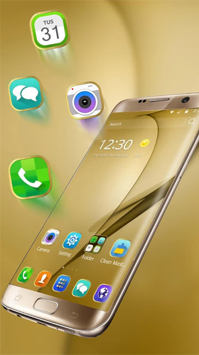 Gold theme for Samsung Galaxy S8 Plus live wallpaper for
