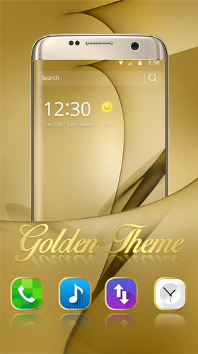 Gold Theme For Samsung Galaxy S8 Plus Live Wallpaper For Android