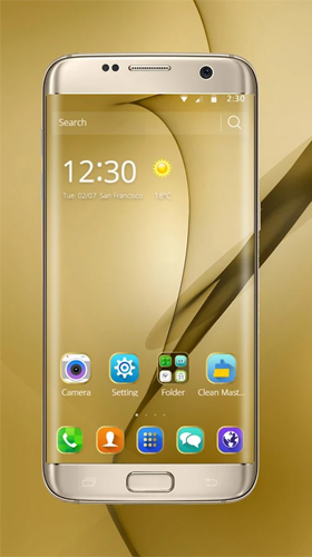Gold theme for samsung galaxy s8 plus pour android for Theme d ecran