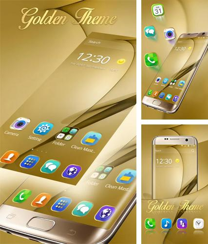 Gold theme for Samsung Galaxy S8 Plus
