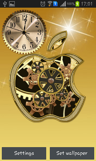 Download livewallpaper Golden apple clock for Android. Get full version of Android apk livewallpaper Golden apple clock for tablet and phone.
