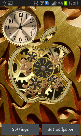Download Golden apple clock - livewallpaper for Android. Golden apple clock apk - free download.