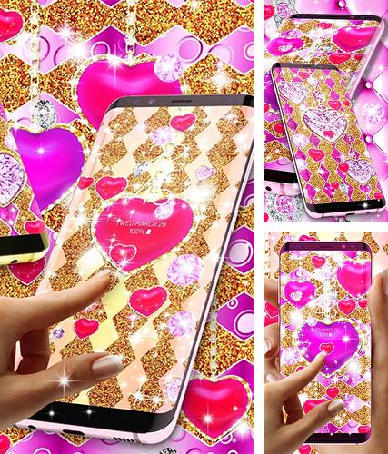 Download live wallpaper Golden luxury diamond hearts for Android. Get full version of Android apk livewallpaper Golden luxury diamond hearts for tablet and phone.
