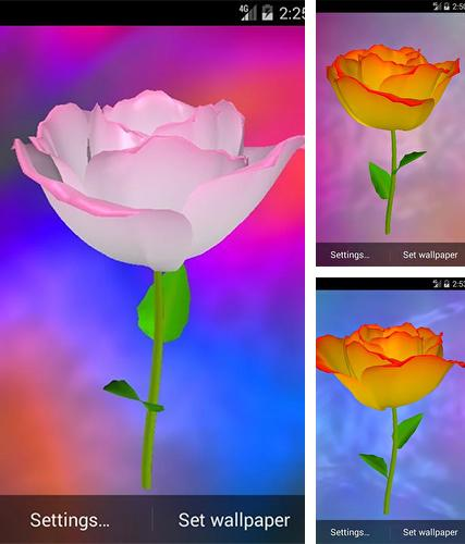 Download live wallpaper Golden rose for Android. Get full version of Android apk livewallpaper Golden rose for tablet and phone.