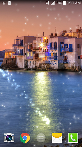 Screenshots of the Greece night for Android tablet, phone.