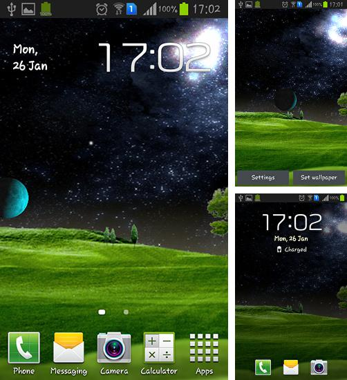 In addition to live wallpaper Tornado: Clock for Android phones and tablets, you can also download Green hills for free.