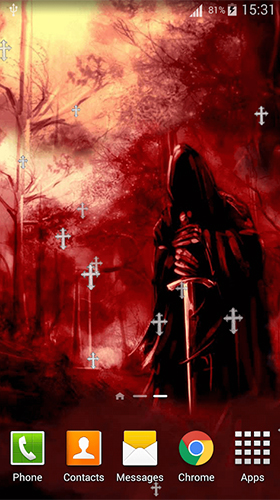 Screenshots of the Grim reaper by Lux Live Wallpapers for Android tablet, phone.