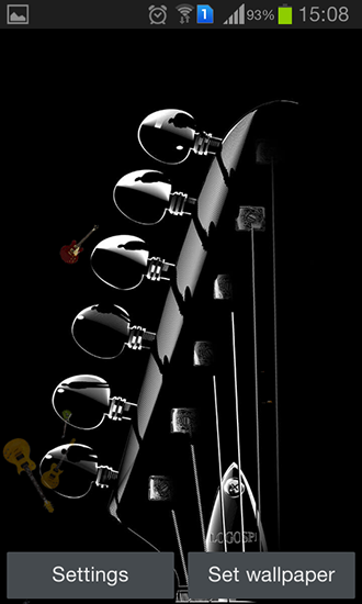 Screenshots of the Guitar by Happy live wallpapers for Android tablet, phone.