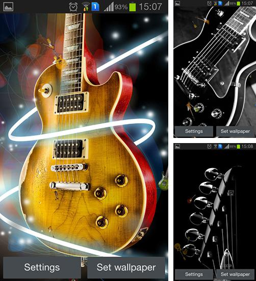 In addition to live wallpaper Aquarium for Android phones and tablets, you can also download Guitar by Happy live wallpapers for free.