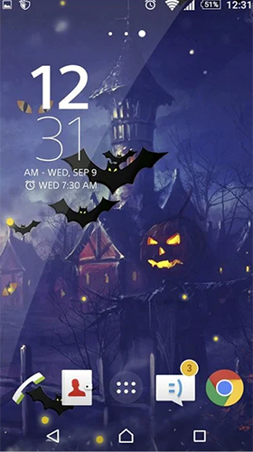 Kostenloses Android-Live Wallpaper Halloween. Vollversion der Android-apk-App Halloween by Beautiful Wallpaper für Tablets und Telefone.