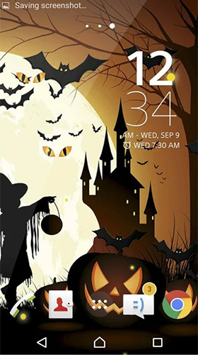 Screenshots von Halloween by Beautiful Wallpaper für Android-Tablet, Smartphone.