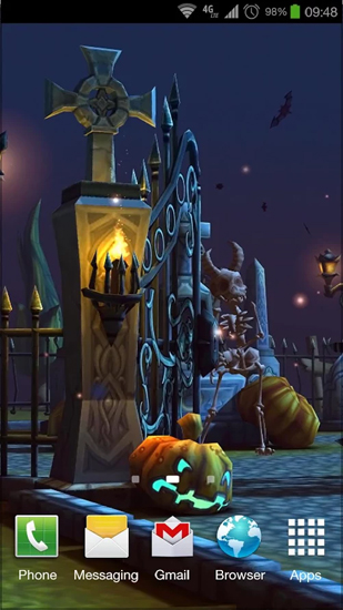 Halloween Cemetery Live Wallpaper For Android