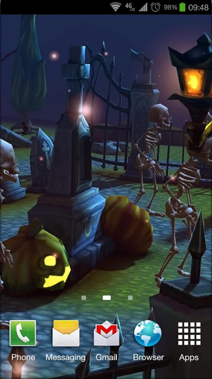 Screenshots of the Halloween Cemetery for Android tablet, phone.