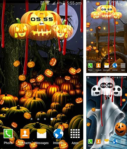 Download live wallpaper Halloween: Clock for Android. Get full version of Android apk livewallpaper Halloween: Clock for tablet and phone.