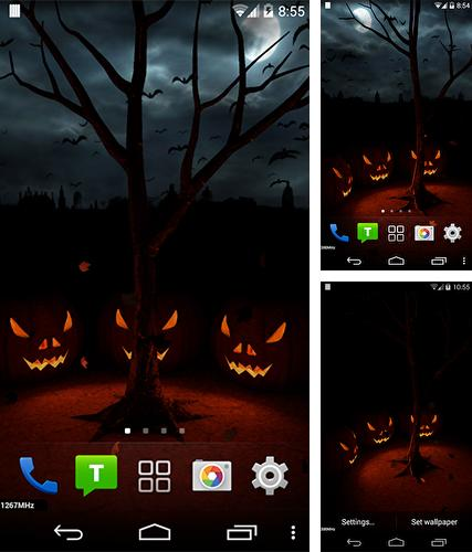 Download live wallpaper Halloween evening 3D for Android. Get full version of Android apk livewallpaper Halloween evening 3D for tablet and phone.