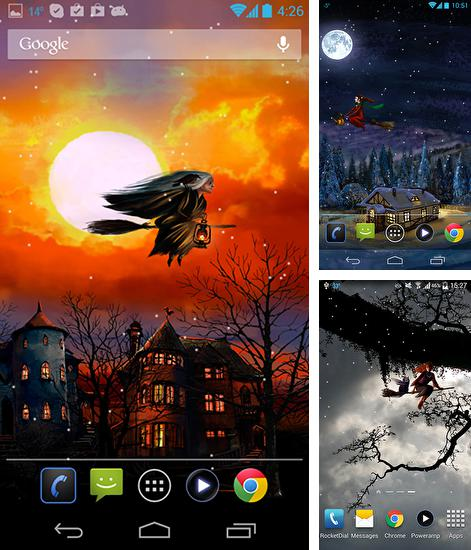 In addition to live wallpaper Mercury 3D for Android phones and tablets, you can also download Halloween: Happy witches for free.