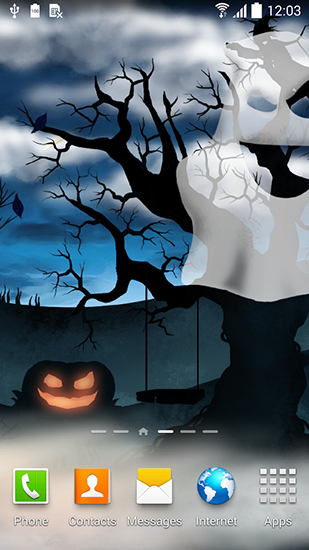 Kostenloses Android-Live Wallpaper Halloween-Nacht. Vollversion der Android-apk-App Halloween night für Tablets und Telefone.