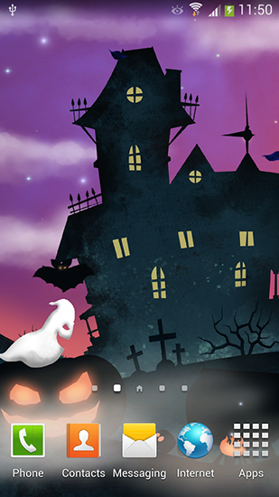 Halloween night für Android spielen. Live Wallpaper Halloween-Nacht kostenloser Download.