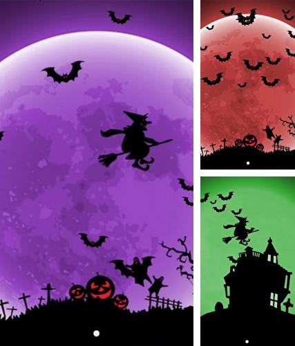Kostenloses Android-Live Wallpaper Halloween. Vollversion der Android-apk-App Halloween night by Wasabi für Tablets und Telefone.
