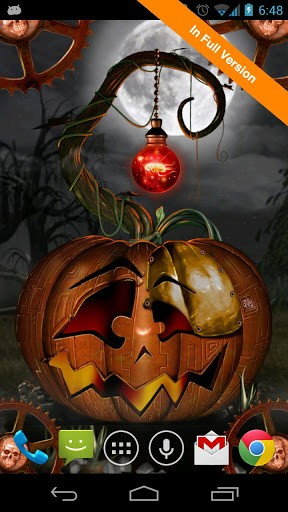 Kostenloses Android-Live Wallpaper Halloween Steampunkin. Vollversion der Android-apk-App Halloween steampunkin für Tablets und Telefone.