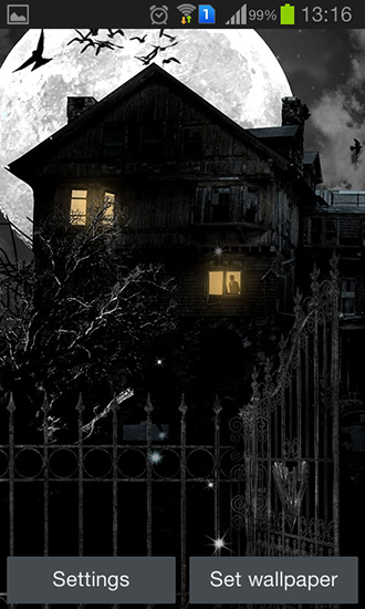 Screenshots of the Haunted house for Android tablet, phone.