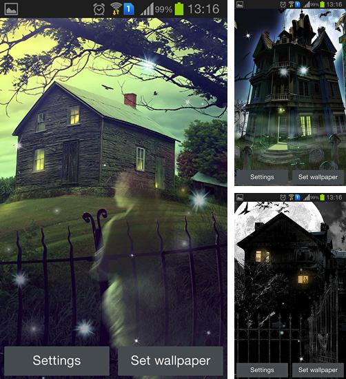 In addition to live wallpaper Northern lights for Android phones and tablets, you can also download Haunted house for free.