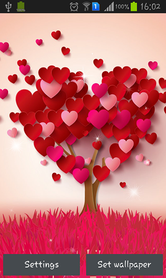 Hearts live wallpaper for Android. Hearts free download for tablet and phone.