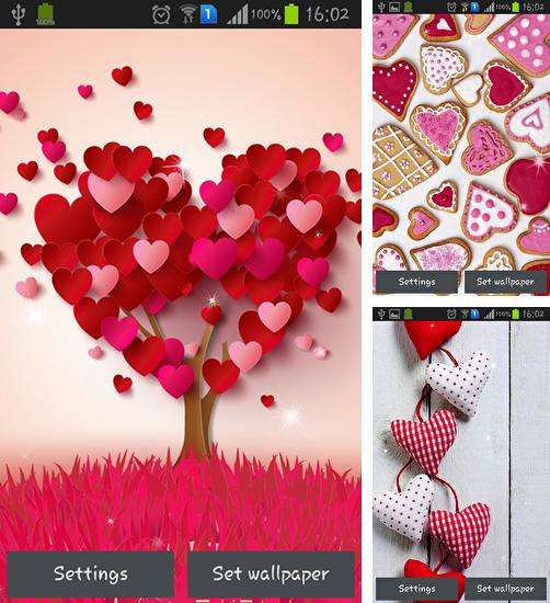 In addition to live wallpaper Windmill by Pix live wallpapers for Android phones and tablets, you can also download Hearts for free.