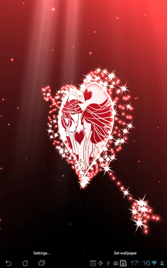 Screenshots of the Hearts by Aqreadd studios for Android tablet, phone.