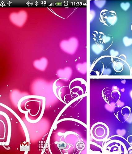Kostenloses Android-Live Wallpaper Herzen. Vollversion der Android-apk-App Hearts by Kittehface Software für Tablets und Telefone.