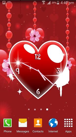 Hearts сlock на андроид скачать бесплатно живые обои для