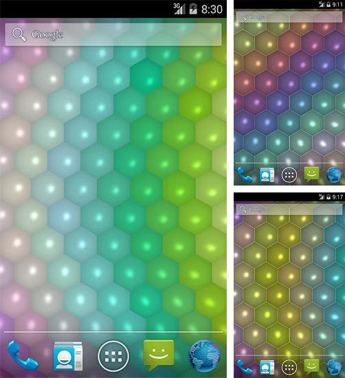 In addition to live wallpaper Sky garden for Android phones and tablets, you can also download Hex Cells for free.