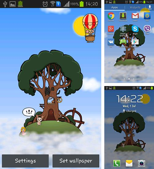 In addition to live wallpaper Star light for Android phones and tablets, you can also download Home tree for free.